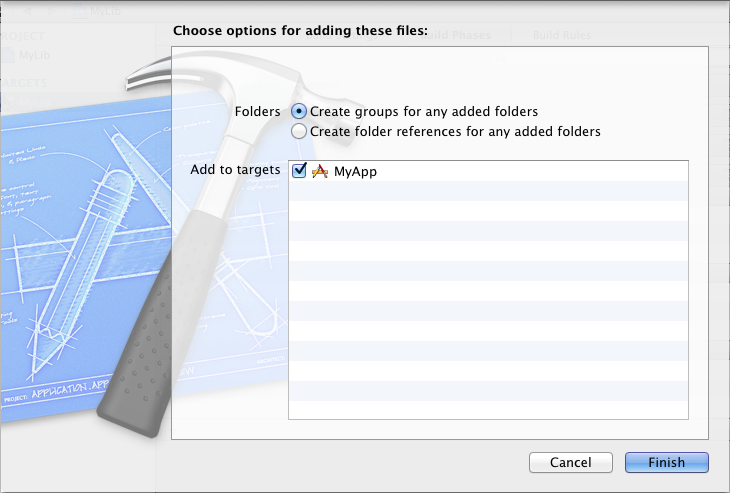 Create groups for any added folders