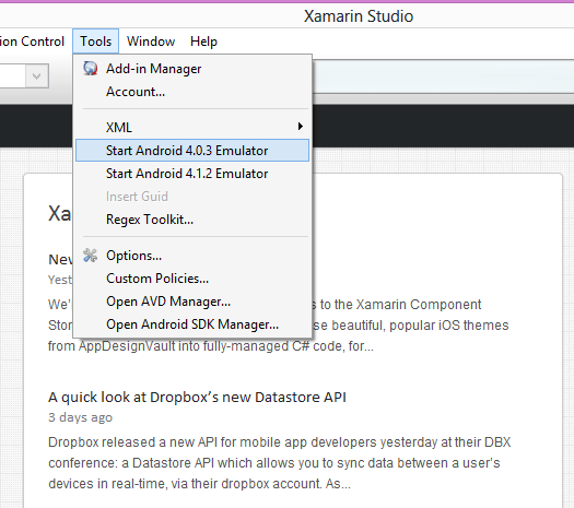 Xamarin Studio External Tools