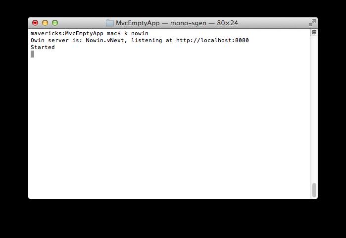 在 Mac 下运行 Nowin.vNext