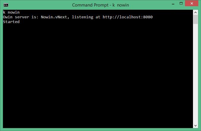 在 Windows 下运行 Nowin.vNext